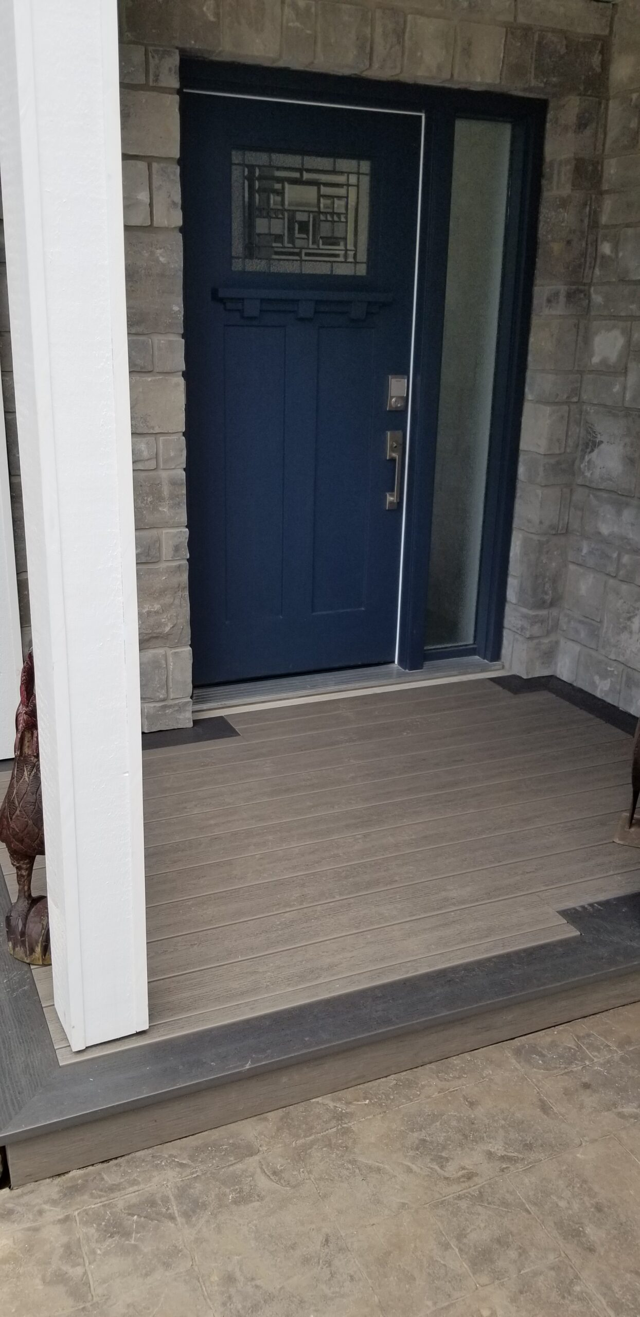 Hickory with Ironwood border porch